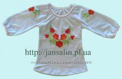 Вышиванки для мальчиков и девочек. Машинная вышивка