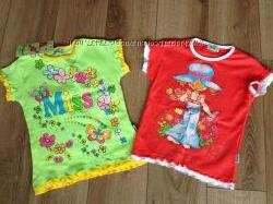 яркие футболочки к лету 110 и 116 см