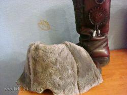 зимние кожаные сапожки на цегейке для девочки р33