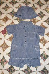 Летний джинсовый костюмчик Gap 3-6 мес.