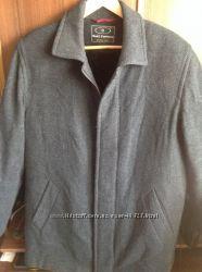 Пальто шерстяное с кашемиром с отстегивающейся меховой подкладкой, 48 р.