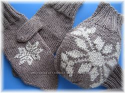 подарки на зимние праздники - варежки для двоих