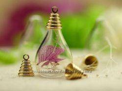 Декоративные мини бутылочки в форме капли