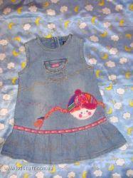 Джинсовой платье-сарафан CHILDRENS PLACEЧилдрен Плейс