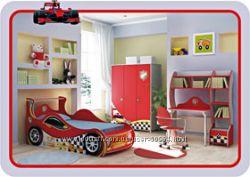 Детская мебель Briz Бриз -кровать карета, кровать машина , стол, комод, шкаф