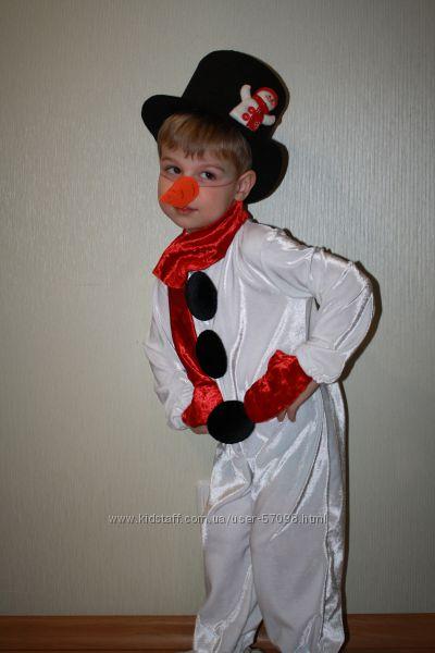 Детский костюм на новый год снеговик своими руками