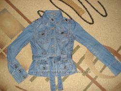 Джинсовая курточка Мехх наш 42-44 - оригинал
