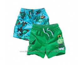 Яркие шорты для купания Next, коттоновые шорты - Gymboree, M&S