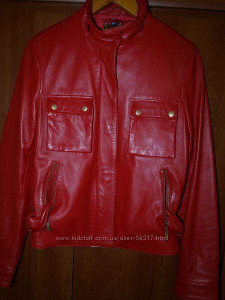 шикарная кожаная курточка
