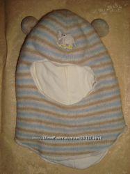 Зимний шерстяной шлем на хлопковой подкладке утеплен синтепоном