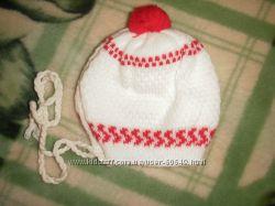 Шапка для новорождённого  демисезонная двойная.
