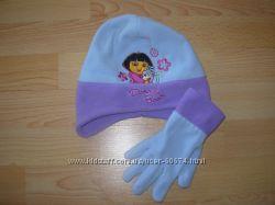 Шапка и перчатки с Дорой