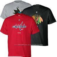 Футболки REEBOK с логотипами хоккейных клубов США