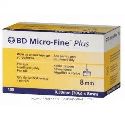 Иглы BD  Micro-fine 8mm для инсулин. шприц-ручек