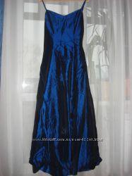 Платье вечернее из тафты с палантином