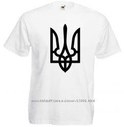 Патриотические футболки. Герб Украины.