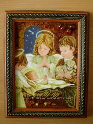 Картины, иконы из янтаря на заказ