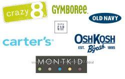Gymboree Crazy8 Gap Old navy Carters Children place Oshkosh купоны
