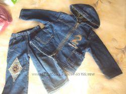 Теплый джинсовый костюм