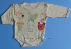 боди, футболки 0-3-6-12-18 месяцев