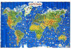 Детская карта мира от АСТ