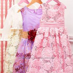 Фирменные нарядные платья для девочек большой выбор