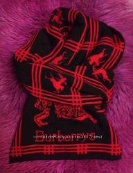 Теплейший красно-черный шарф ala Burberry