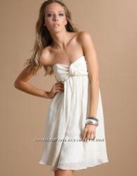 Шелковое лавандовое нарядное коктельное платье Ted Baker
