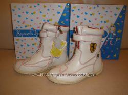 распродажа зимних кожаных ботинок для девочек, р. 32-37