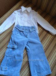 Стильные вельветовые  штаны для девочки в идеальном состоянии на 98 рост