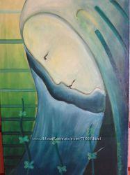Авторская работа, Офелия - картина маслом