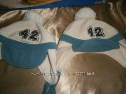 шапка с шарфиком флис