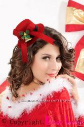 Новогодние мини шляпки, вуалетки, для праздничного образа.