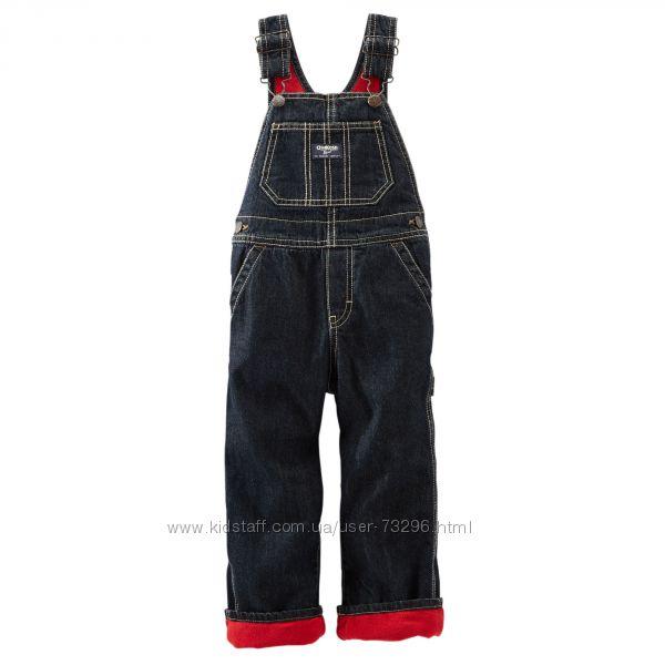Модные и теплые джинсовые полукомбинезоны на флисе