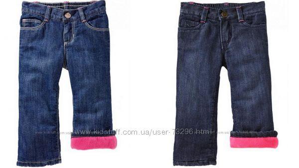 Фирменные джинсы, джинсы на флисе и брючки модным малышкам