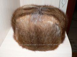 Натуральная шапка из ондатры р. 55-56 в отличном состоянии