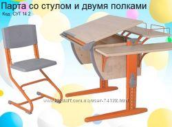 Парта Деми детская трансформер с полками и стулом