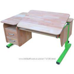 Детские  письменные столы для дома  с тумбой из Натурального дерева