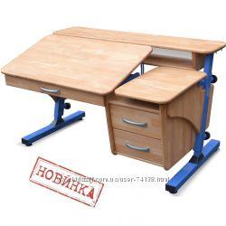 Детская парта трансформер Эргономик с тумбой, письменный стол