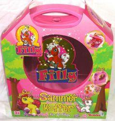 Кейс-чемоданчик, Пони,  Поняшки, Пони  Filly   Simbа. Снежный шар.