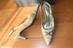 Летние туфли Via Uno р. 39 идут на р. 38