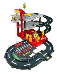Гаражи с машинками, пожарные станции и игровые наборы Bburago