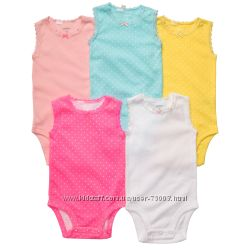 Бодики Carters 6М- 24М Разные расцветки для мальчиков и девочек