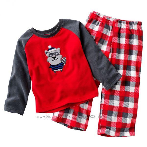 Фирменные теплые пижамки Carters для мальчиков и девочек