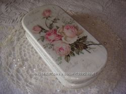 Шкатулка ручной работы Шебби-Розы