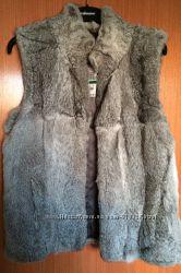 Новый меховой жилет Michael Kors из кролика с биркой, оригинал, размер L