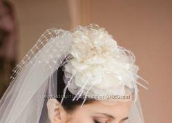 Продам свадебное болеро и шляпку-цветок