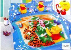 Яркая полуторная постелька для детишек. Красота и Качество. Удобство и Уют.