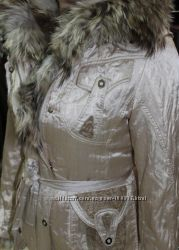 куртка оригинал Италия мех Енота подкладка Кролик
