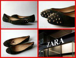Zara оригинал балетки Испания 37р 24, 2см много обуви и одежды фирма